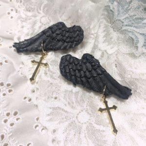 ご購入いただきありがとうございました(*^▽^*)堕天使の翼の十字架バージョンです♪